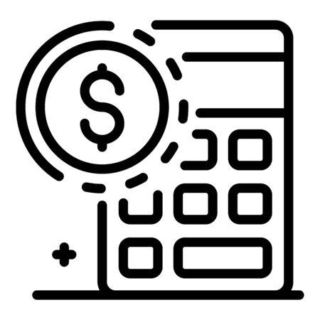 Estimator calculator icon, outline style