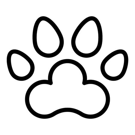 Dog foot print icon, outline style