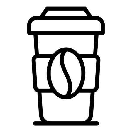 Original coffee cup icon, outline style