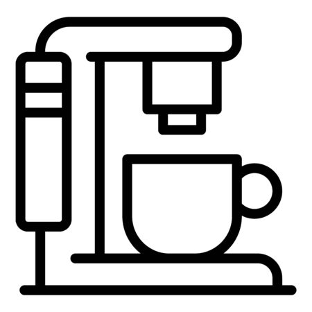 New coffee machine icon, outline style