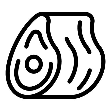 Meat icon, outline style