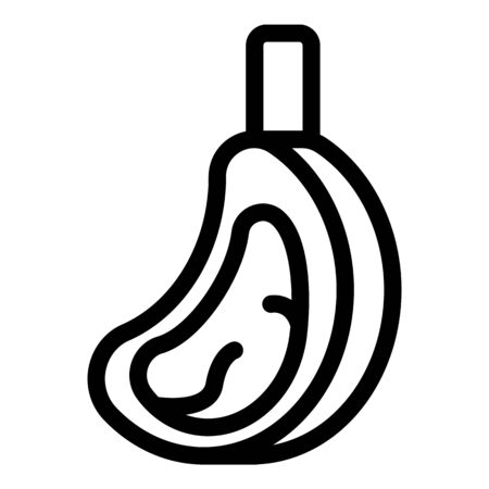 Steak meat icon, outline style