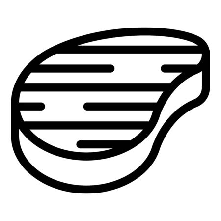 Cooked steak icon, outline style