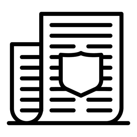 Policeman document paper icon, outline style