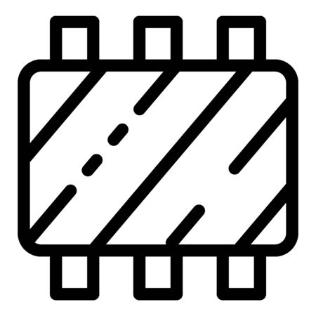 Meat ribs icon, outline style