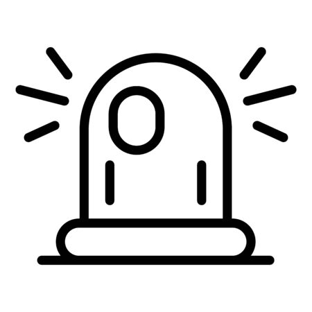 Police flasher icon, outline style