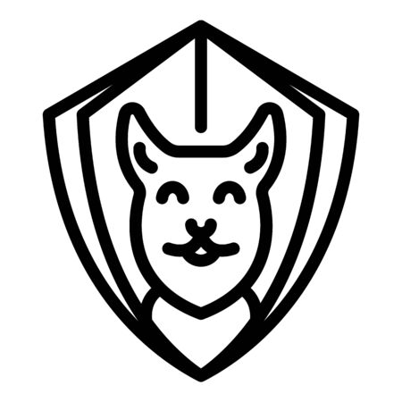 Dog shield protect icon, outline style