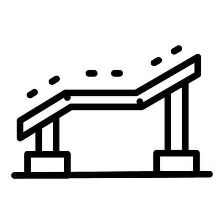 Dog training bar icon, outline style