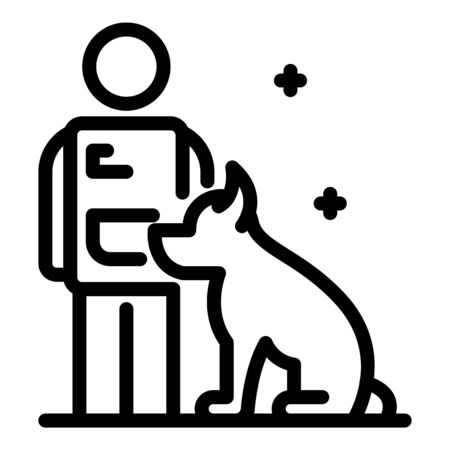 Police dog training icon, outline style