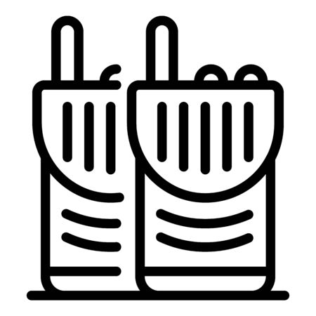Police walkie talkie icon, outline style