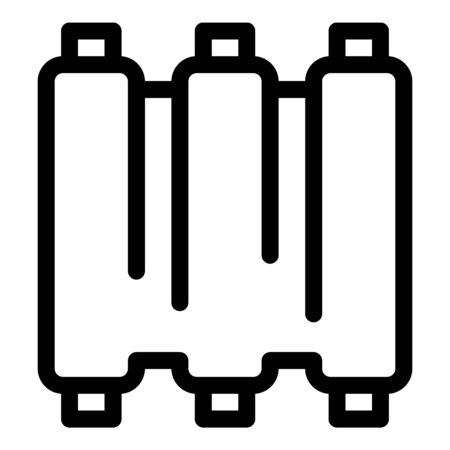 Fresh meat ribs icon, outline style