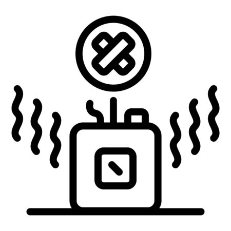 Radio wave device icon, outline style