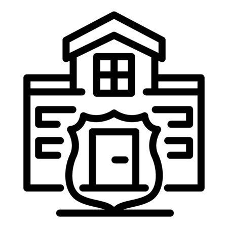 House villa guard icon, outline style