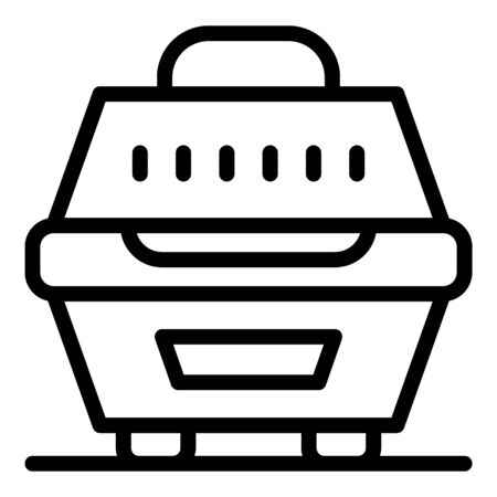 Dog puppy box icon, outline style