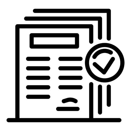 Personal guard papers icon, outline style