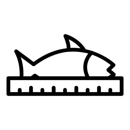 Fish farm length icon, outline style