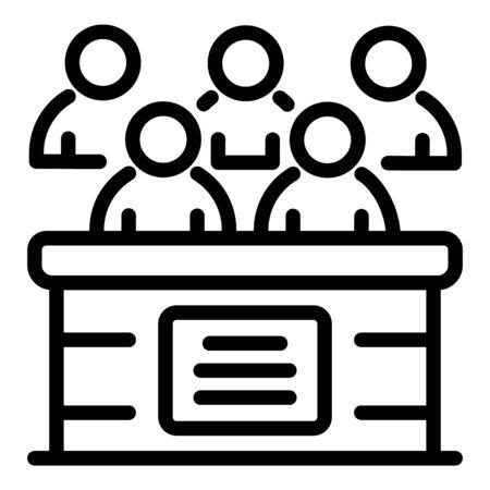 Coroners jury icon, outline style
