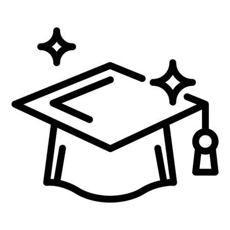 Prosecutor hat icon, outline style Illustration
