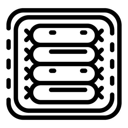 Meat sausage icon, outline style