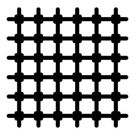 Prison gate icon, outline style Ilustração