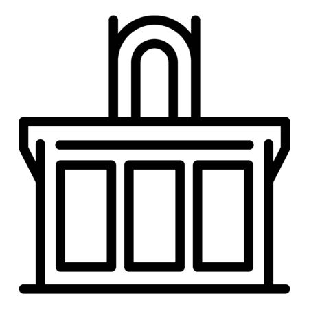 Prosecutor table icon, outline style Illustration
