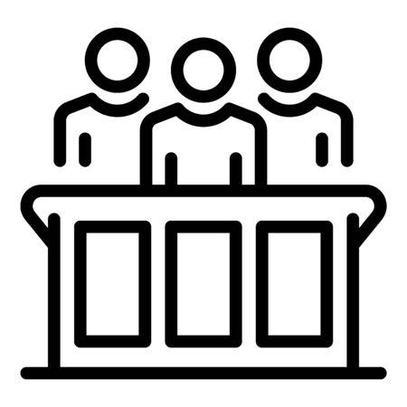 Verdict judgment icon, outline style