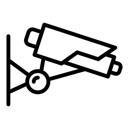 Prison security camera icon, outline style 矢量图像