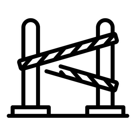 Prison barrier icon, outline style
