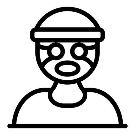 Criminal prison icon, outline style
