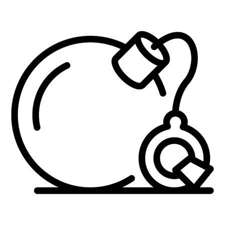 Prison handcuffs bomb icon, outline style