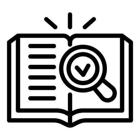 Agency book icon, outline style