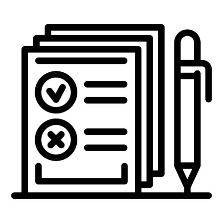 Agency notary papers icon, outline style