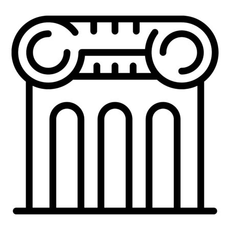 Notary column building icon, outline style