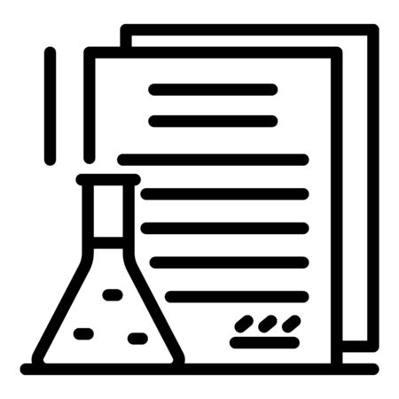 Chemical criminal expertise icon, outline style