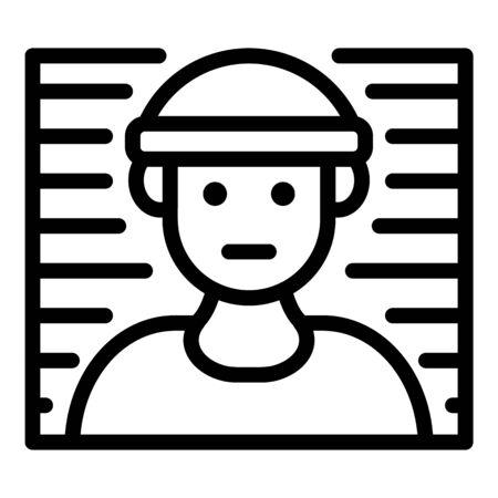 Prison foto line icon, outline style