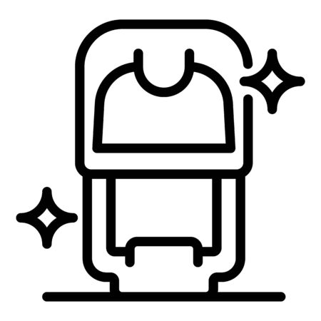 Notary stamp icon, outline style