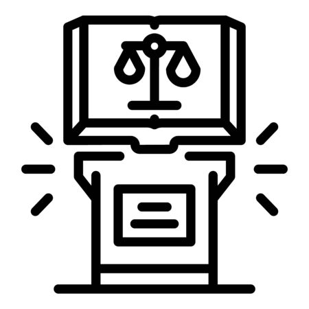 Notary book icon, outline style