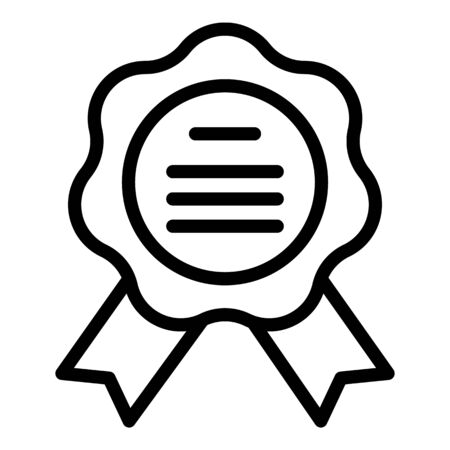 Notary emblem icon, outline style