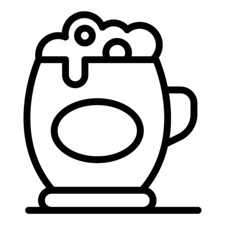 Beer mug icon, outline style