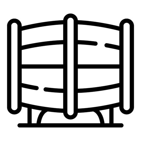 Barrel of rum icon, outline style