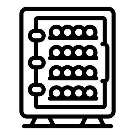 Wine fridge icon, outline style