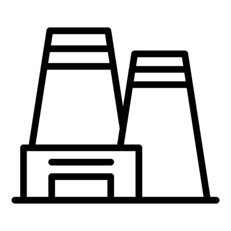 Processing plant icon, outline style Illustration