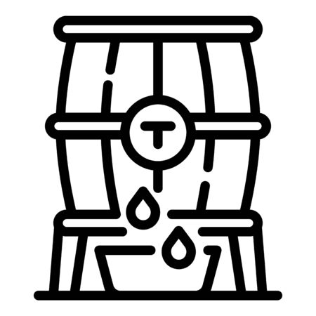 Barrel of brandy icon, outline style Illustration