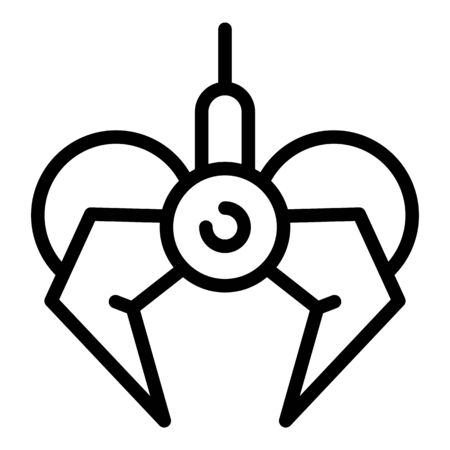 Claw manipulator icon, outline style
