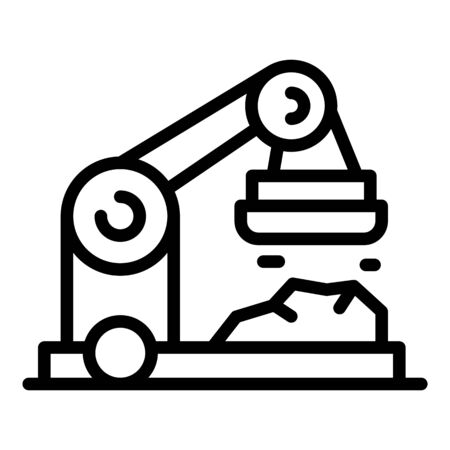 Crane with magnet icon, outline style