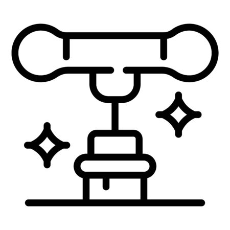 Corkscrew and cork icon, outline style
