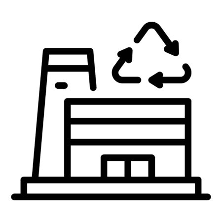 Plant for recycling beteris icon, outline style Illustration