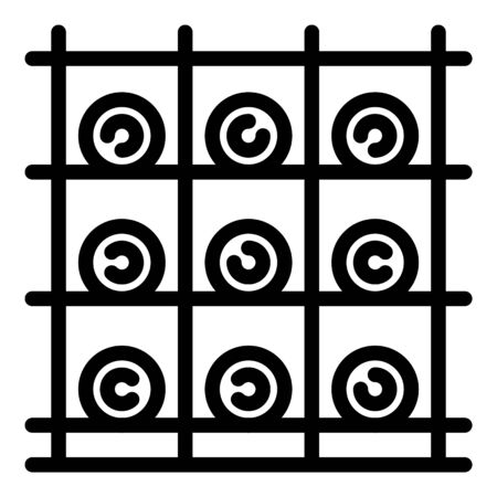Bottle rack icon, outline style