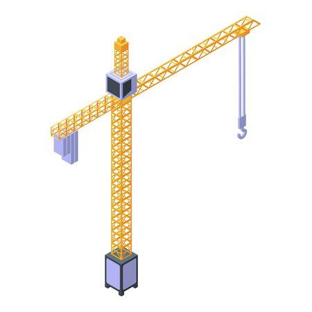Capacity crane icon, isometric style