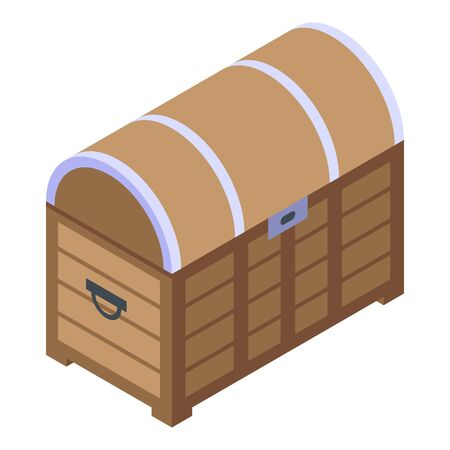 Quest dower chest icon, isometric style